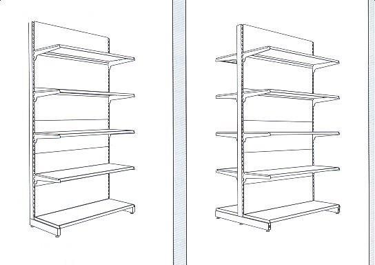стелажи за складиране на стока до щанд масите (2)